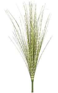 "32"" PVC Onion Grass Bush - Green/Ivory - 4"" Stem - Bare Stem"