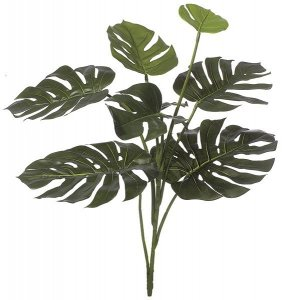 "34"" Split Leaf Philodendron - 8 Leaves - 26"" Width - Green"