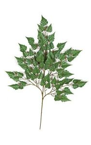 "35"" Birch Branch - 62 Leaves - Green - FIRE RETARDANT"