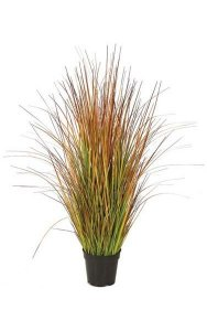 "35"" PVC Onion Grass Bush - Multi Fall - 24"" Width - Weighted Base"