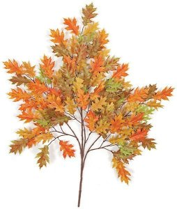 "38"" Pin Oak Branch - 105 Orange Leaves - FIRE RETARDANT"