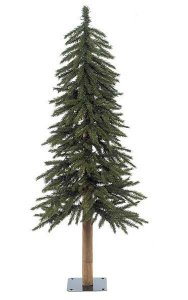 4' PVC Alpine Christmas Tree - Natural Trunk - 337 Tips