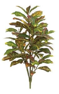 4' Croton Plant - Synthetic Trunk - 88 Multi-Colored Leaves