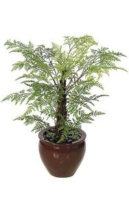 4' Plastic Royal Fern - Synthetic Trunk - 23 Fronds - Green