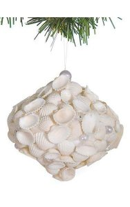 "4"" Shelled Onion Ornament - White"