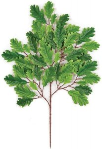 Earthflora's 23 Inch Ifr Oak Branch - Green (Sold By The Dozen) Fire Retardant