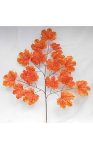 "40"" Canadian Maple Branch - 20 Red/Orange Leaves - 29"" Width"