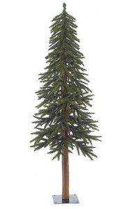 "Alpine Christmas Tree - Natural Trunk - 475 Green Tips - 22"" Width"