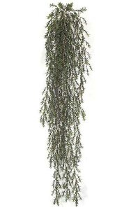5' Hanging Plastic Mini Bamboo Bush - Green