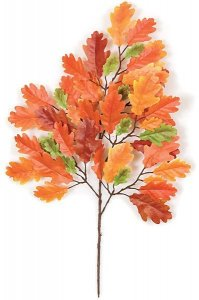 Earthflora's 23 Inch Ifr Oak Branch - Red/orange Or Green (Sold By The Dozen)
