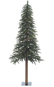 "Alpine Christmas Tree - Natural Trunk - 657 Green Tips - 29"" Width"