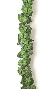 6' Boston Ivy Garland - 126 Leaves - Green - FIRE RETARDANT