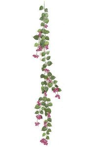6' Bougainvillea Garland - 50 Flowers - 67 Leaves - Beauty