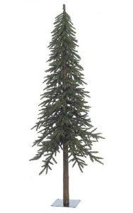 7' PVC Alpine Christmas Tree - Natural Trunk - 921 Tips