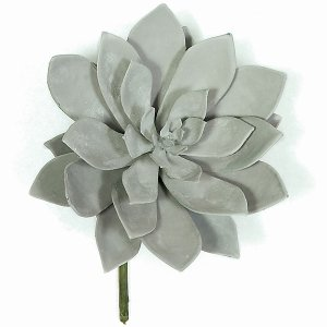 "7"" x 8"" Plastic Succulent - Frosted Grey/Green"