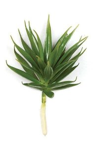 "7.5"" Plastic Agave Pick - Green - Bare Stem - FIRE RETARDANT"