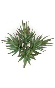 "9"" Plastic Agave Plant - Green/Grey - Bare Stem - FIRE RETARDANT"