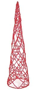 4' Acrylic Cone Christmas Tree - Red