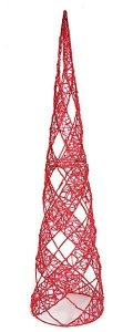 6' Acrylic Cone Christmas Tree - Red