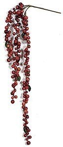"27"" Hanging Berry Vine x 3 - 5"" Stem - Mixed Red"