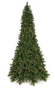 7.5' Mika Pine Christmas Tree - Full Size - 1,417 Green Tips - 550 Clear Lights