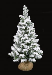 24 Inch Flocked Christmas Tree