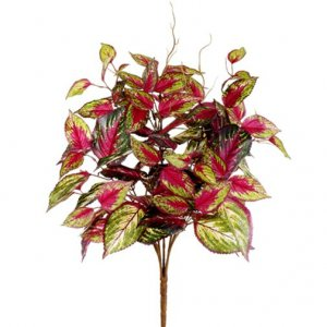 "20"" Coleus-Bush-pink-Green-fake-artificial"