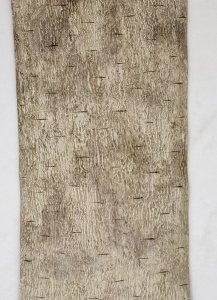 Earthflora's  6 Foot X 12 Inch Roll Of Synthetic Birch Bark In Dark Grey Or White Colors
