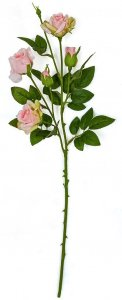 Earthflora's 23 Inch Artificial Mini Rose Sprays In Pink Or White Colors