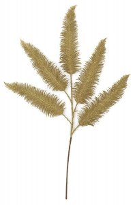Earthflora's 29 Inch Decorative Gold Glittered Fern Leaf Pick