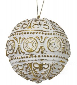 Earthflora's 4 Inch Antique Gold Ball Ornament