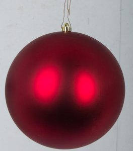 Earthflora's Large Red Matte Ball Ornaments - 10 Inch