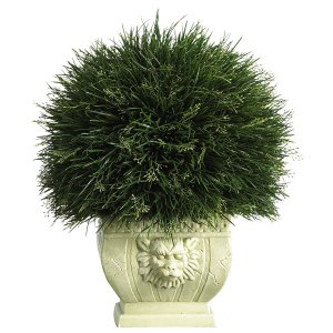 Plastic Potted Acorus Grass Topiary