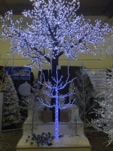 13' Cherry Blossom Christmas Tree - 4,224 White 5mm LED Lights