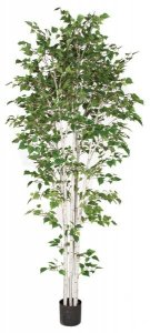9' Birch Tree - Synthetic Trunks - 2,442 Green Leaves