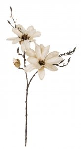 34 Inch Cream Magnolia Spray With Flowers