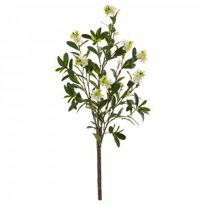 "EFN-825 36"" White Peach Blossom Branch"