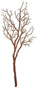 Plastic Twig Branch - Brown