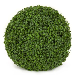 "16"" Plastic Boxwood Ball - 820 Tutone Green Leaves"