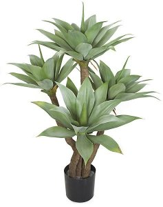 "AR-102080 4 Foot  Plastic Agave Tree - 4 Green Heads - 43"" Width"