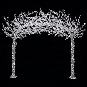8.25' x 9.5' Acrylic Arch Christmas Tree - 2 Sections - 3,600 White LED Lights