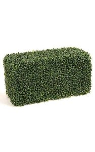 "12"" x 24"" x 12"" Artificial Boxwood Hedge - Traditional Leaf - Tutone Green"