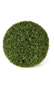 "20"" Plastic Boxwood Ball - Traditional Leaf - Tutone Green"