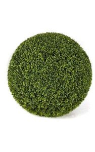 "24"" Plastic Outdoor Boxwood Ball - Traditional Leaf - Tutone Green"