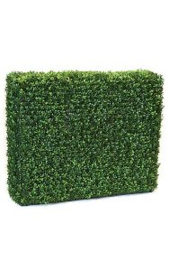"35"" x 11"" x 30"" Outdoor Plastic Boxwood Hedge - Wire Frame - Tutone Green - Outdoor UV Protection"