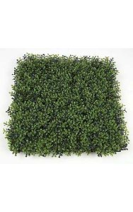 "20"" Plastic Boxwood Mat - 3"" Height - Traditional Leaf - Tutone Dark Green/Light Green"