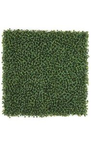 "20"" Plastic Outdoor Boxwood Mat - 1"" Height - Traditional Leaf - Tutone Green"