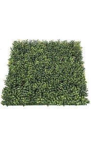 "20"" Outdoor Boxwood Mat - 3"" Height - Traditional Leaf - Tutone Green"
