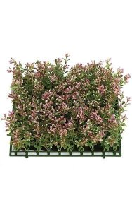 "10"" Plastic Boxwood Mat - 100 Sets of Leaves - 3"" Height - Hot Pink"