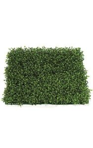 "20"" Square Outdoor Plastic Boxwood Mat - Traditional Leaf Style 2"" Height Tutone Green Color"